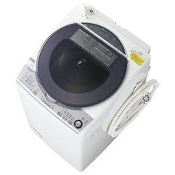 シャープ 8.0kg 洗濯乾燥機 シルバー系SHARP 穴なし槽 プラズマクラスター洗濯機 ES-TX840-S