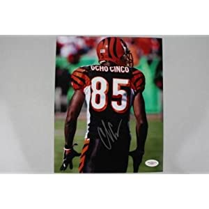 Bengals Chad Ochocinco Signed Authentic 8x10 Photo Jsa