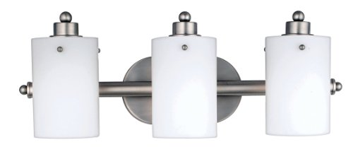 Quoizel Du8603ns Devereaux 11 1 2 Inch Bath Bar With Three Lights With Opal Etched Glass Neo Silver Finish Julie W Smithem