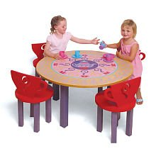 Room Magic RM100-GT Table/4 Chairs Set, Teaset