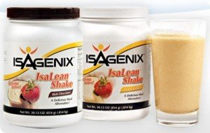 Isagenix Isalean 4 Pack Shake 2 Natural Chocolate & 2 Natural Vanilla