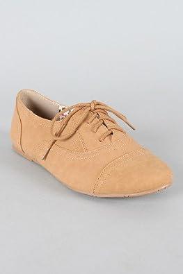 Cambridge 03 lace Ups Oxfords Flats Jazz Shoes BEIGE 10