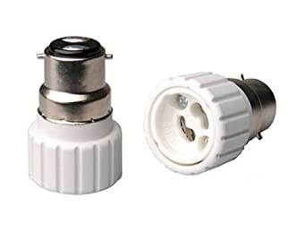 b22 to gu10 lamp light bulb base socket converter adaptor. Black Bedroom Furniture Sets. Home Design Ideas