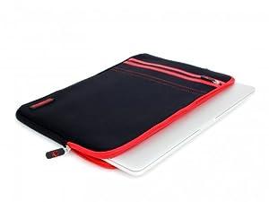 COOL BANANAS RainSuit Stripes Neopren Tasche passgenau für MacBook Pro 15 Zoll mit Retina Display in Cherry
