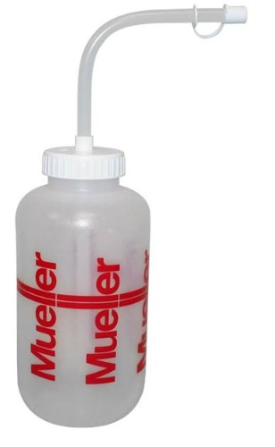 Mueller Sports Medicine Squeeze Quart Water Bottle With Straw-Baseball-Football