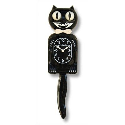 Small Kit-Cat Clock in Black