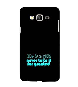 EPICCASE Life is a Gift Mobile Back Case Cover For Samsung Galaxy E7 (Designer Case)