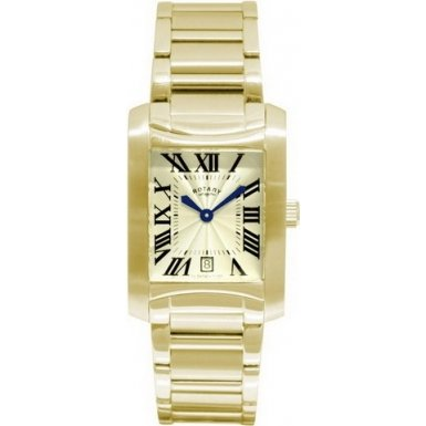 Rotary GB02509-46 Gents Bridgewater Gold Plated Mens Watch