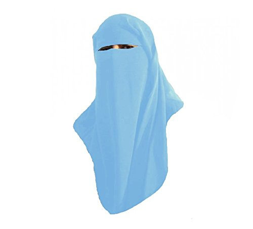 Burqa cappuccio Burqua Fancy Dress tradizionale Sharia burka Head-Hijab [Wear City, colore: blu