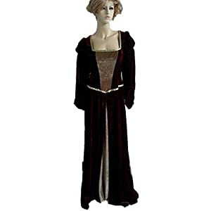 JJE Renaissance Maiden Red Polyester Women's Halloween Costume , XL
