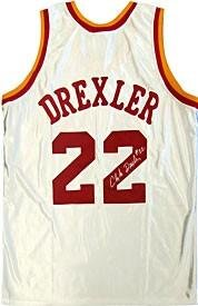 Autographed Clyde Drexler Jersey - Houston Rockets - Autographed NBA Jerseys by Sports Memorabilia