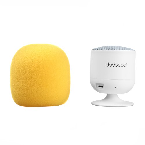 Dodocool Mini Ultra Portable Wireless Bluetooth 3.0 Speakers Subwoofer With Mic, Built In Mic Speaker System (Yellow)
