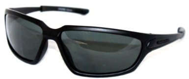 Sunglasses - Sport - Men's Polarised Sports - Dark Shadow - Black Frame / Smoked Lenses Includes Protective Hard Case, Cloth & Cord - Suitable For Cricket, Cycling, Fishing, Golf, Hunting, Sailing, Yachting & other outdoor Sports - Affordable Sunglasses