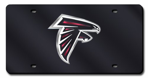 Nfl Atlanta Falcons (Black) Laser-Cut Auto Tag