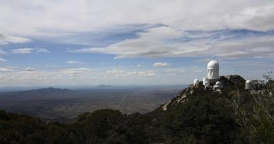 Science Wall Decals Kitt Peak Observatory Domes And Surrounding Area - 24 Inches X 13 Inches - Peel And Stick Removable Graphic