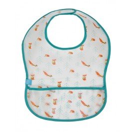 Lassig Waterproof Spill Proof Eva Bib, Little Tree Fox, Medium