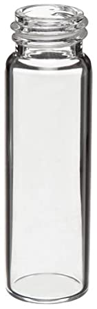 Kimax 74502-7 Borosilicate Glass 7mL Solvent Saver Vial, with Closure Packed Separately (Case of 1000)