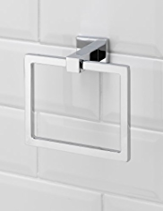 Square Contemporary Towel Ring