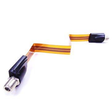 プロテック すき間 フラット アンテナ ケーブル ( 横方向 折り曲げ 可能 取り付け用両面 テープ付 約30cm 1本入) SE-F01