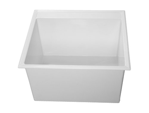 Drop In Laundry Tub : Crane Plumbing Drop-In Laundry Tub, White #DL1 Sinks