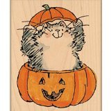"Penny Black Mounted Rubber Stamp 2.25""X2.75""-Beware Of Cat! - 1"