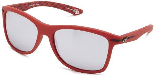 Fox The Double Deuce 07206-904-Os Rectangular Sunglasses,Matte Red & Chrome Spark,60 Mm