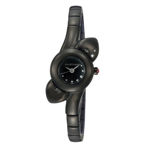 Jill Stuart Women's SILDF002 Petal Collection Black Ionic-Plated Bracelet Watch