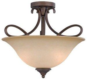 Hardware House 10-0892 Bennington 3-Light Semi-Flush Ceiling Fixture, Antique Bronze