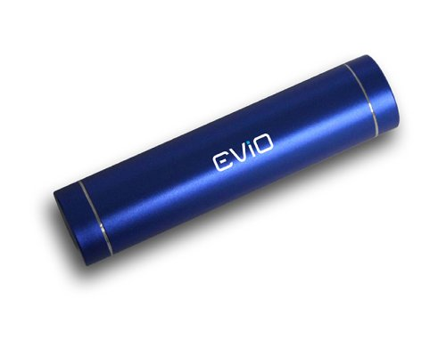 EViO 2200mAH Battery Bar Shape Portable Powerbank Support for Mobiles, iPhones, Tablets, Mp3, Mp4 Players (Blue)