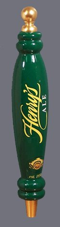 Henry Weinhard's Henry's Ale Wooden Brewery Beer Tap Handle 12 3/4 st peter s golden ale