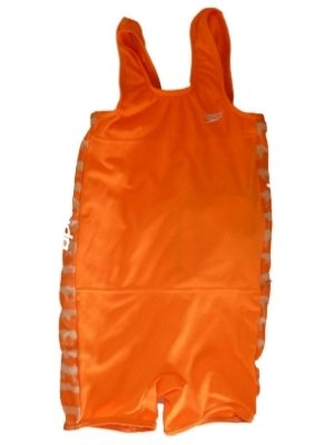 Boys Orange Speedo Flotation Swimming Suit Polywog Buoy