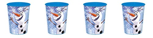 Disney Frozen Olaf Plastic Cup 16 Oz ~ 4 Pack