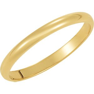 Genuine IceCarats Designer Jewelry Gift 10K Yellow Gold Wedding Band Ring Ring. 02.00 Mm Light Half Round Band In 10K Yellowgold Size 10