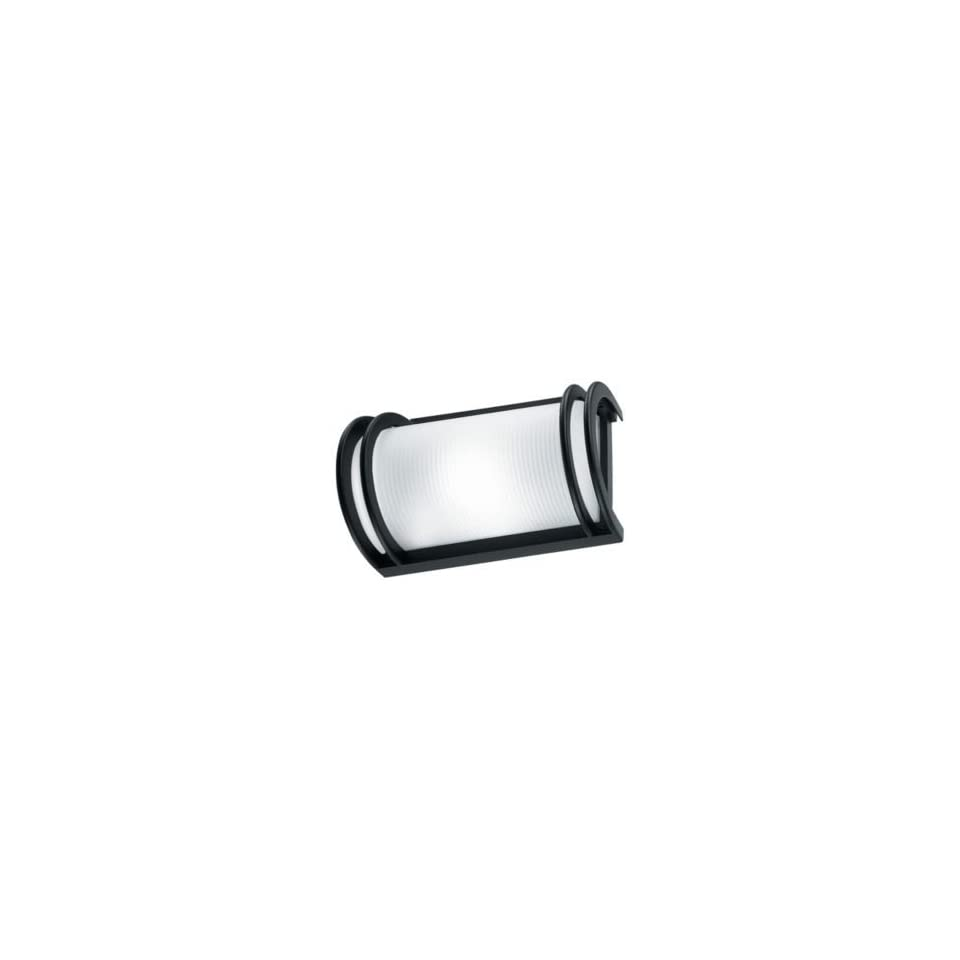 Nikko Outdoor Wall Sconce by LBL Lighting  R021701   Finish  Black   Lamping  13W FLR High Electronic
