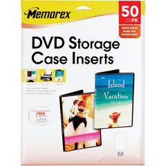 Memorex  32020716 - 50 Pack of DVD Storage Case Inserts.