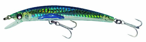 Yo-Zuri Crystal 3D Minnow Floating Lure, Holographic Green Mackerel, 5 1/4-Inch