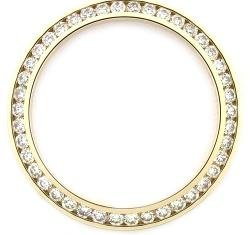 Ladies 1ct Channel Set Diamond Bezel 18ky for Rolex