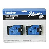 Brother 2-pack Tc-20 1/2in Black On White Labeling Tape for Pt-6 8 10 12 15 20 150 170
