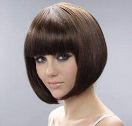 Cosplayland - short brown black mix BOB natural as real Hair Wig