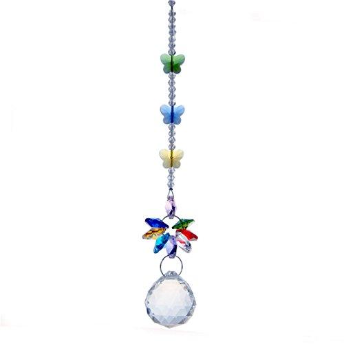 Crystal Ball Prism Butterfly Suncatcher