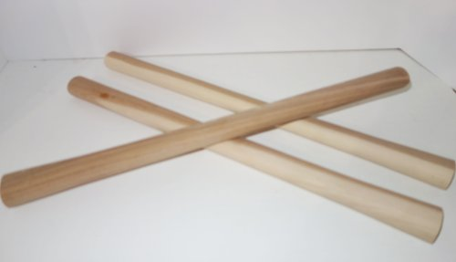 "Set Of 3 Extra 19"" Hickory Handles For Tomahawks & Axes"