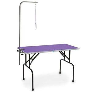 Master Equipment Pet Folding Grooming Table, Purple