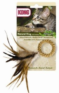 KONG Cat Naturals Straw Ring w/Feathers Teaser