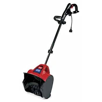 Toro 38361 Power Shovel 7.5 Amp Electric Snow Blower     With a 12-inch cutting width and a 20-foot throwing distance, you'll clear your snow quickly. Click here for a larger image  With a snow-throwing capacity of 300 pounds per minute, you can cle...