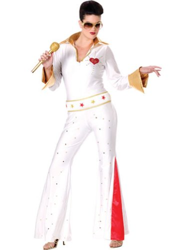 Elvis Female Jumpsuit Md/Lg Halloween Costume