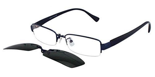 Online Sunglasses Men Clip On Blue Sun Readers Prescription Fashion Only No Rx