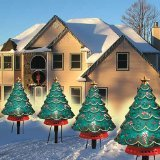 10 PIECE HOLIDAY CHRISTMAS TREE PATHWAY LIGHT SET