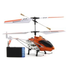 3 Channel Helicopter with Gyro i-Helicopter Controlled by iPhone/iPad/iPod iTouch (Orange)