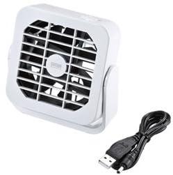SANWA SUPPLY USB磁石付き扇風機 ホワイト USB-TOY71W