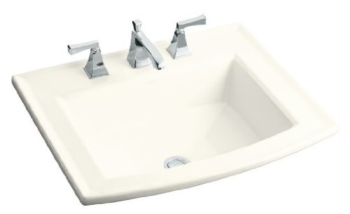 Kohler K-2356-1-96 Archer Self-Rimming Lavatory with Single-Hole Faucet Drilling, Biscuit